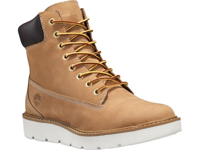 """Timberland Kenniston Lace Up Boots Women 6"""" Wheat Nubuck"""